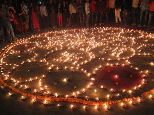 Notre Mandala lors de la fête de Dev Divali
